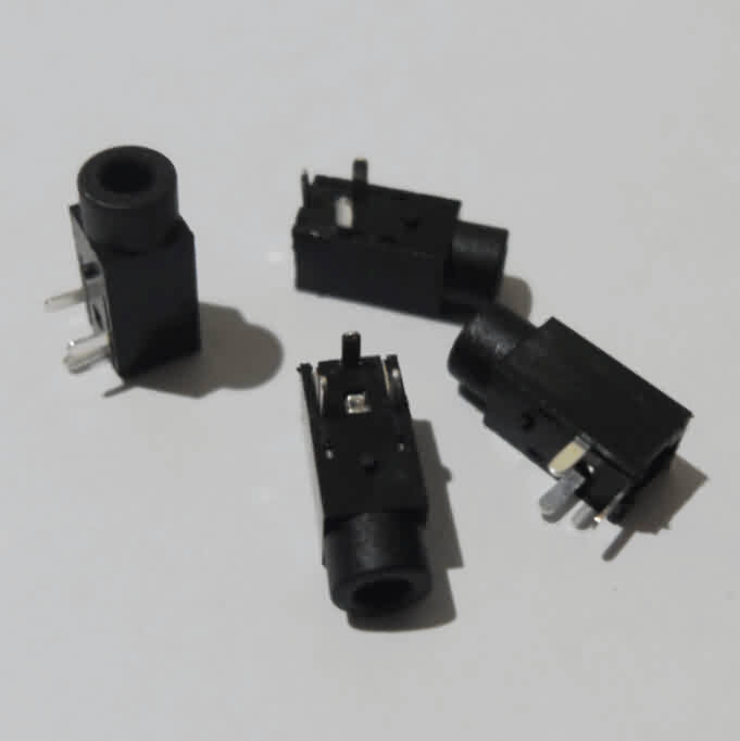 Through-hole Audio Jack Socket- Hole Dia.: 2.5mm