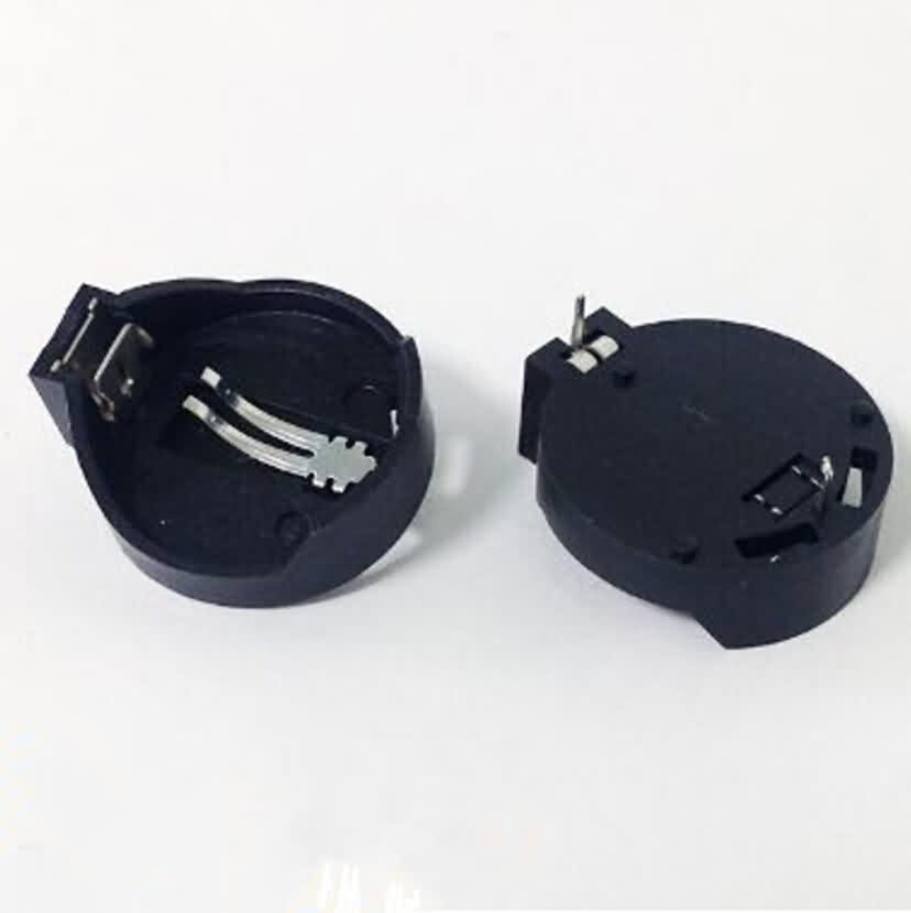 Single Compartment CR2032 Button Battery Holder with Switch