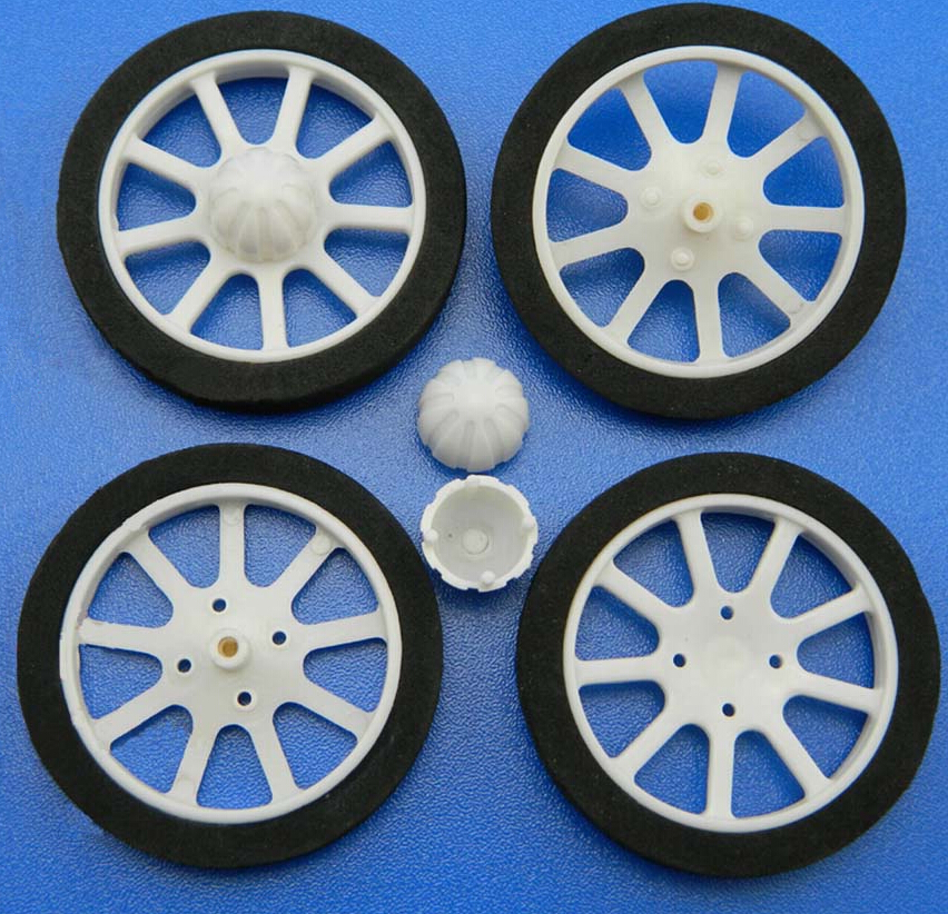 Sponge Tire Nylon Hub Wheel for RC Plane / OD: 60mm
