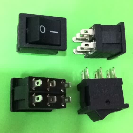 Rocker Switch: 6-Pin / DPDT / 6A