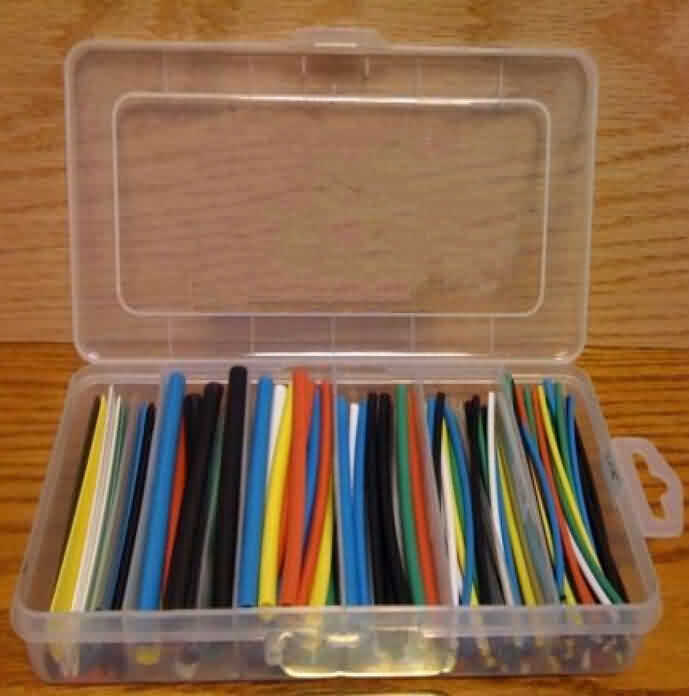Heat Shrink Tubing Kit - 7 Colors in Box