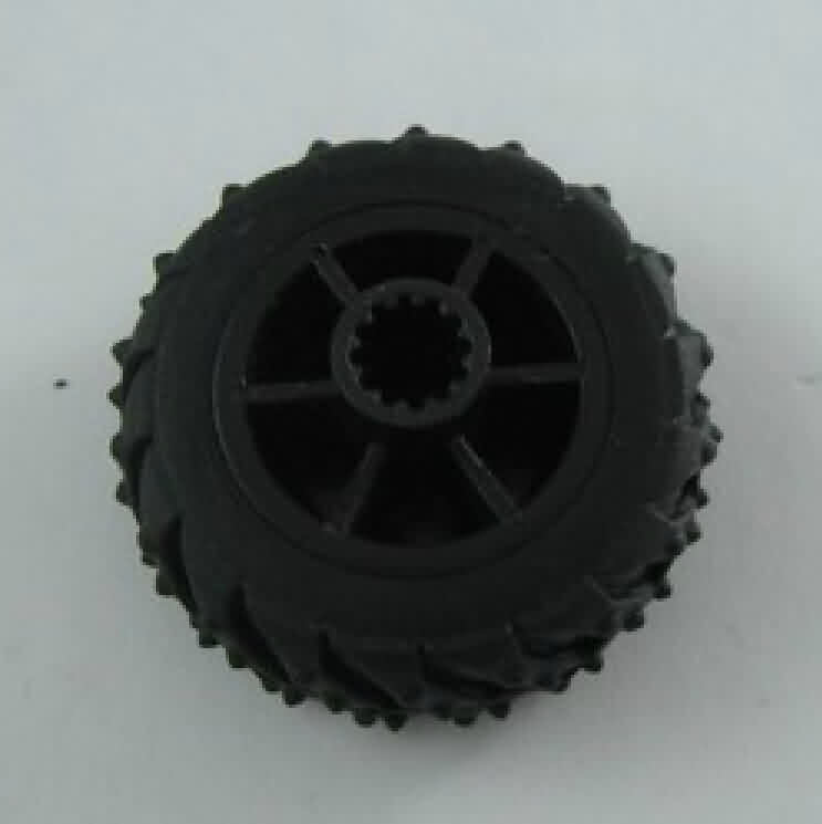 Servo-operated Solid Rubber Wheel - OD: 37mm