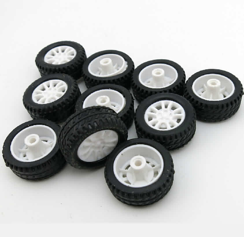 Rubber Tire with PP Hub Wheel / OD: 20mm