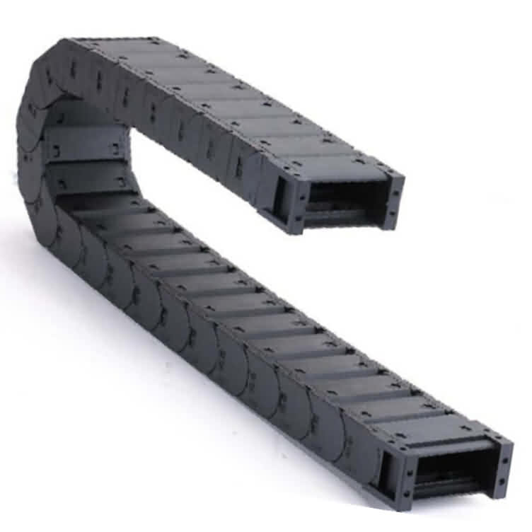 Nylon Drag Chain: Fully Closed / 2-side Cross Bar Open Type
