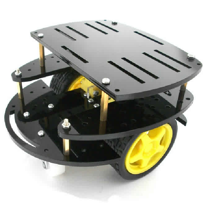 3 Wheel 3 Deck Robotic Chassis Kit