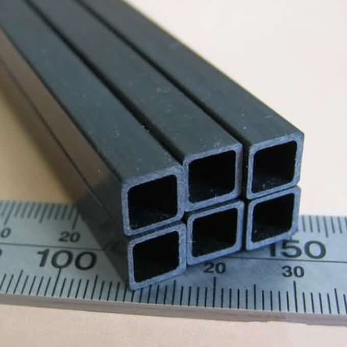 Pultruded Carbon Fibre Square Tube with Square Holes