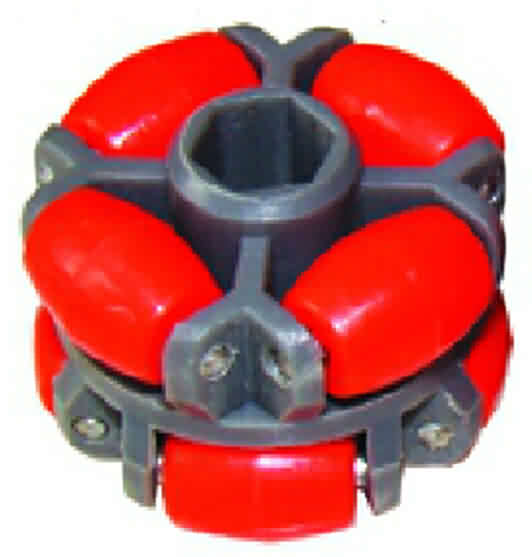 Hex-shape Bore Omni Wheel- OD: 40mm