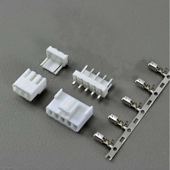 3.96mm JST VH-Style Unshrouded Male/Female Connectors- Straight Pin
