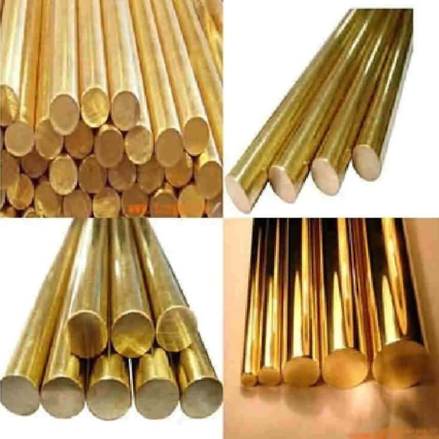 Brass Rod by Alloy H59 - Diameter:1~20mm / L: 500mm 1000mm