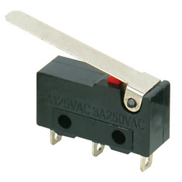 Snap-Action Switch with 23mm Lever: 3-Pin / SPDT / 5A