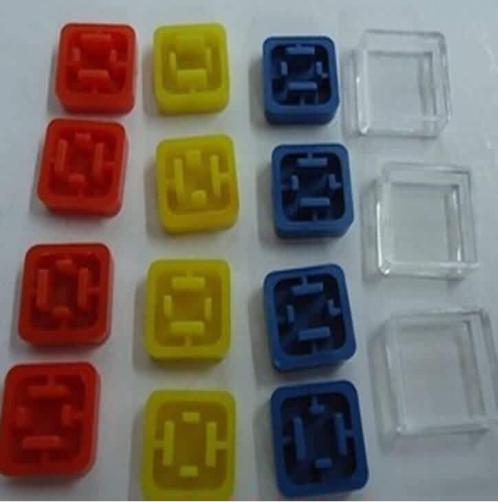 Square Plastic Caps for Square Shaft Push Button 12 * 12mm