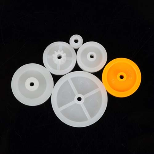 Plastic Single Flute Pulley Wheel Kit
