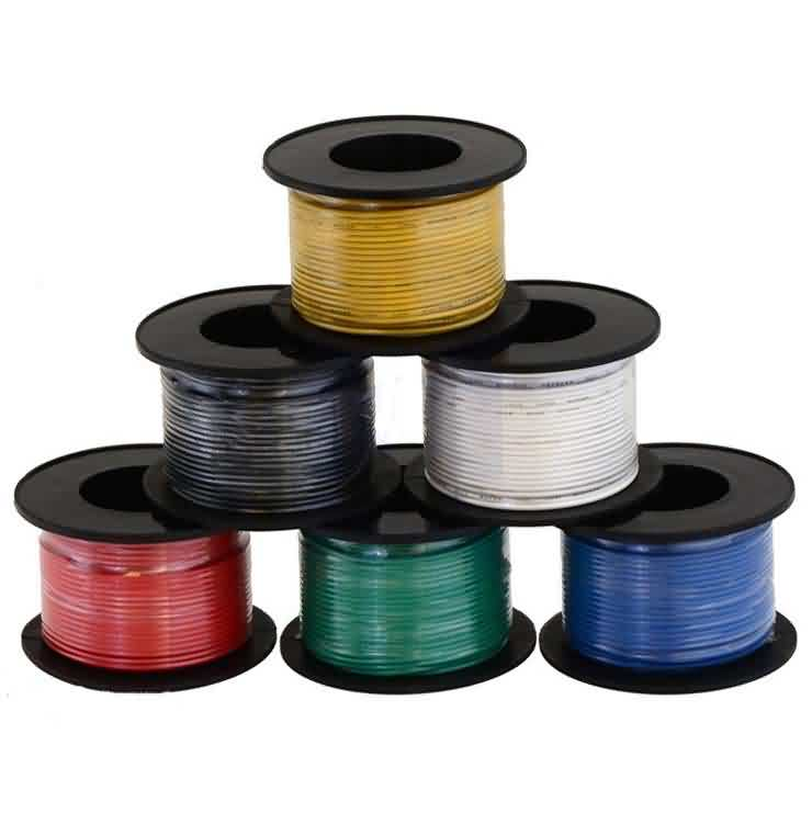 Stranded Wire by 6 Colors / AWG:22 / Length: 15 meters(50ft)