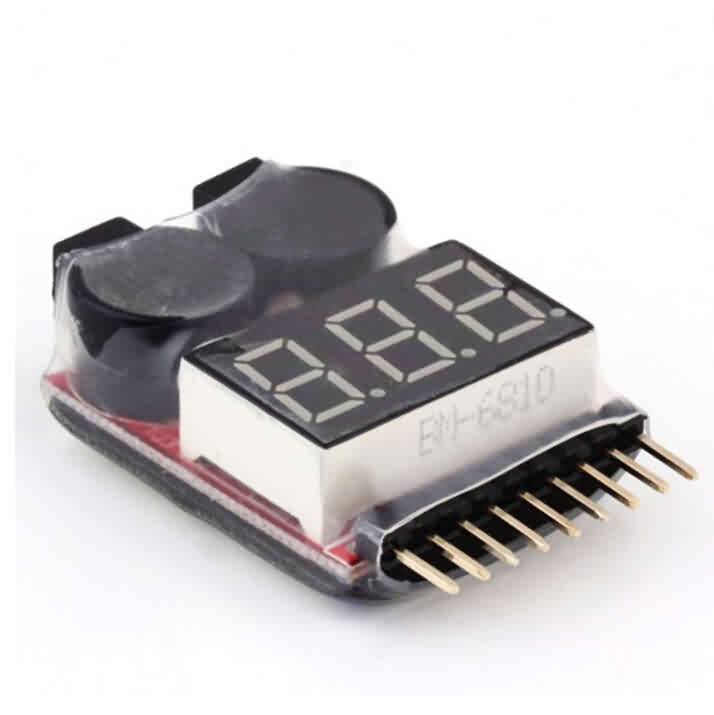 Lipo Battery Voltage Checker & 2-8S Low Voltage Buzzer