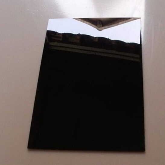 Acrylic Glass Sheets - Glossy Black - Thickness: 1.0mm