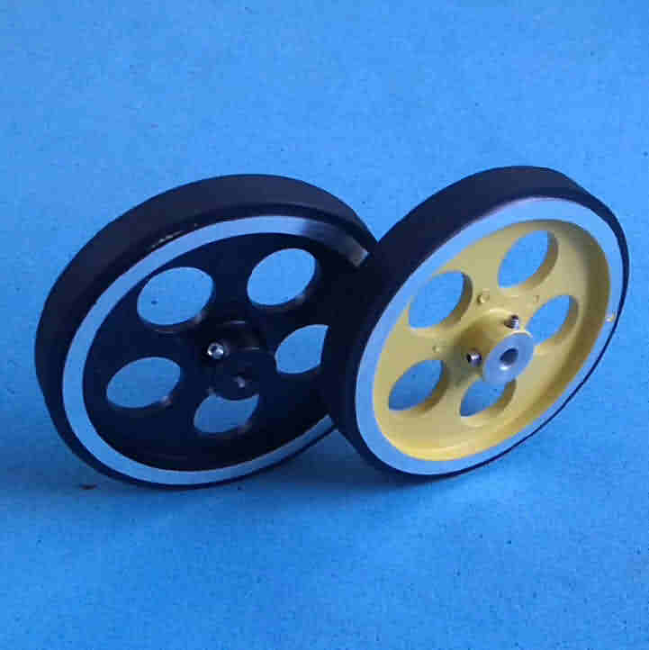 Rubber-band Aluminum Hub Wheel / OD: 95mm