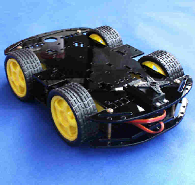 2-Deck 4-Wheel Robotic Chassis Kit