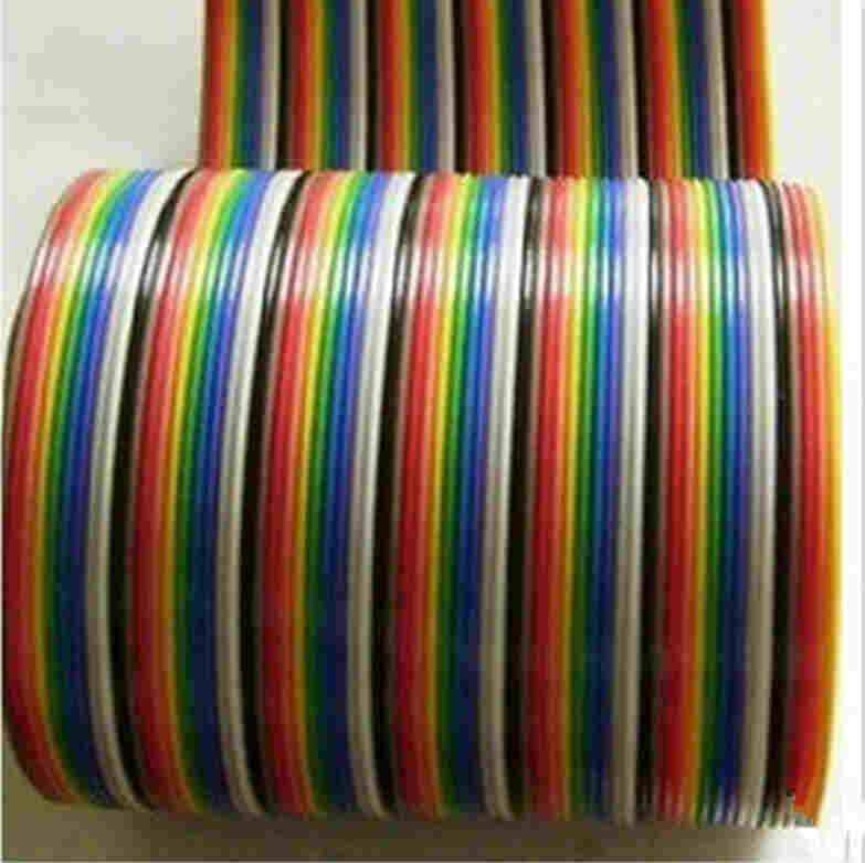 Pre-cut Flat Rainbow Cables - Conductor Pitch: 2.54mm