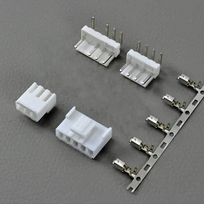 3.96mm JST VH-Style Unshrouded Male/Female Connectors- Right Angle Pin