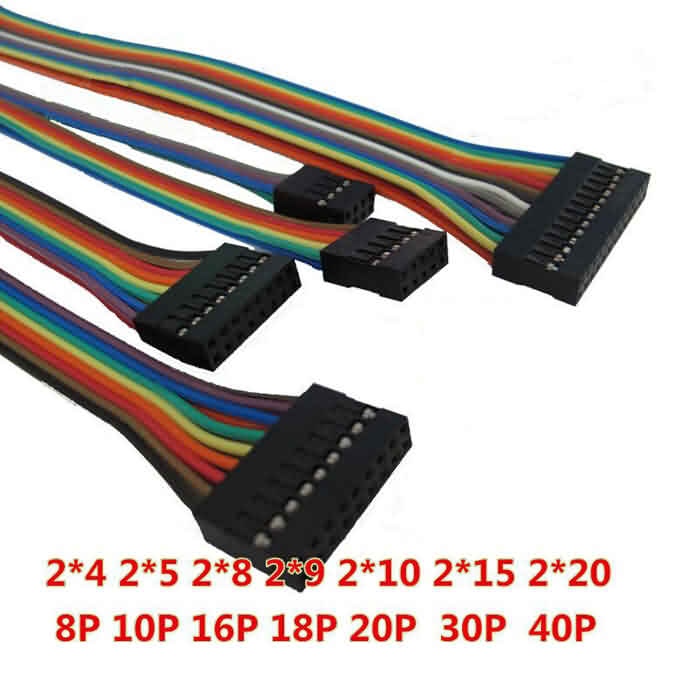 2*4~10 Pin AWG26 Crimped Wire w/ Terminals and Housings - Double Row
