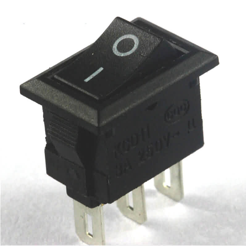 Rocker Switch: 3-Pin / SPDT / 6A
