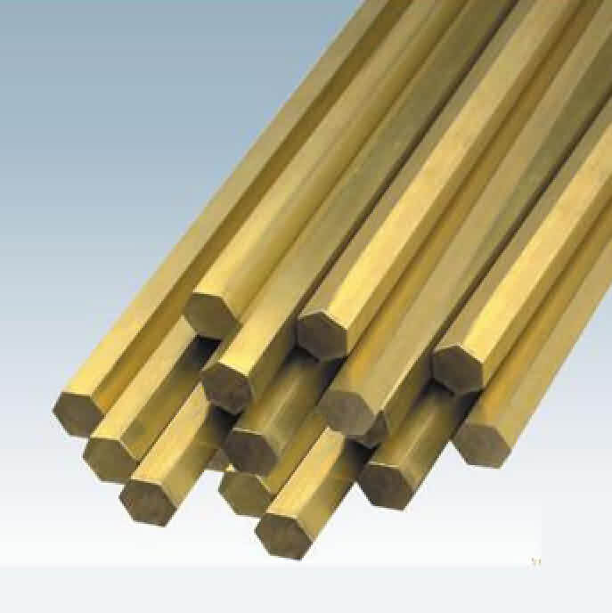 Hexagonal Brass Rod  Diameter: 5~27mm / L: 100-500mm
