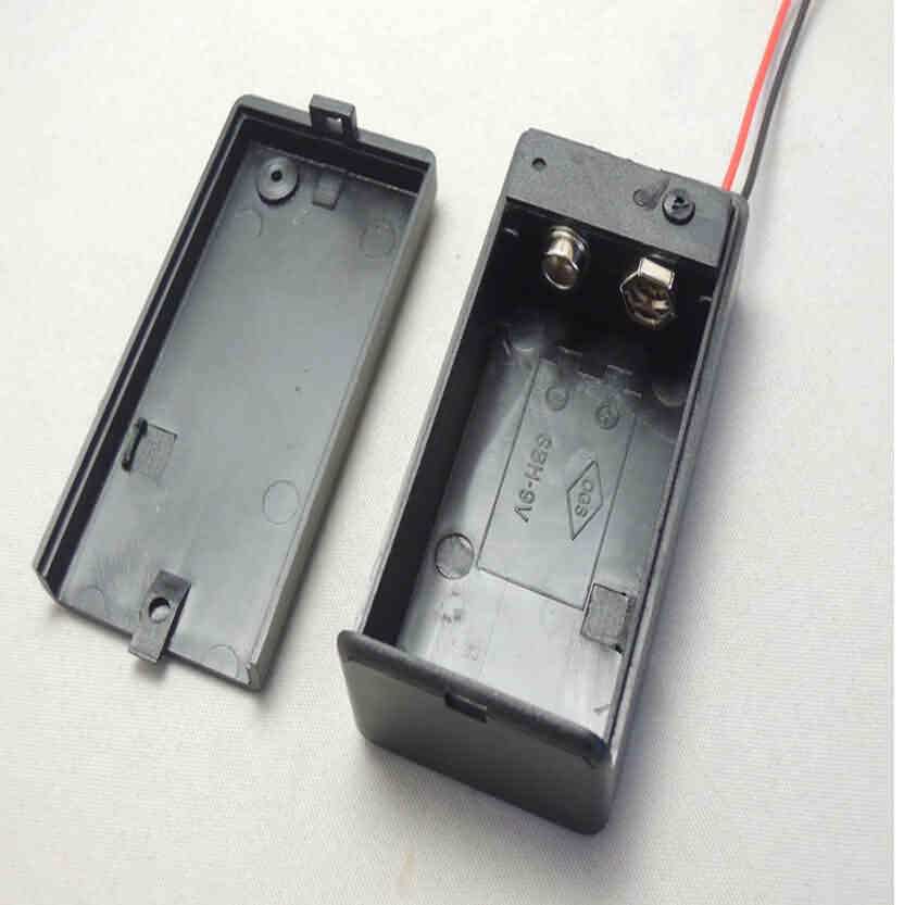 9V Battery Holder with Lid and Switch