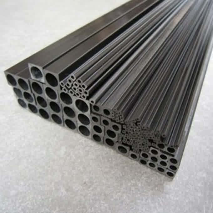 Pultruded Carbon Fibre Square Tubes with Round Holes