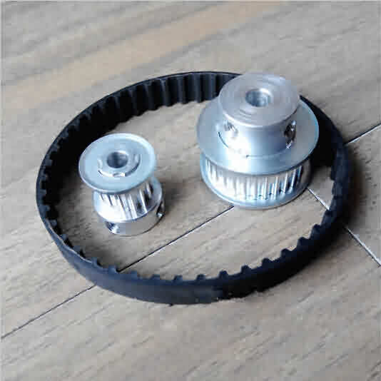HTD 3M Aluminum Synchronous Pulley Set / Ratio- 1:3 / Teeth: 25-75