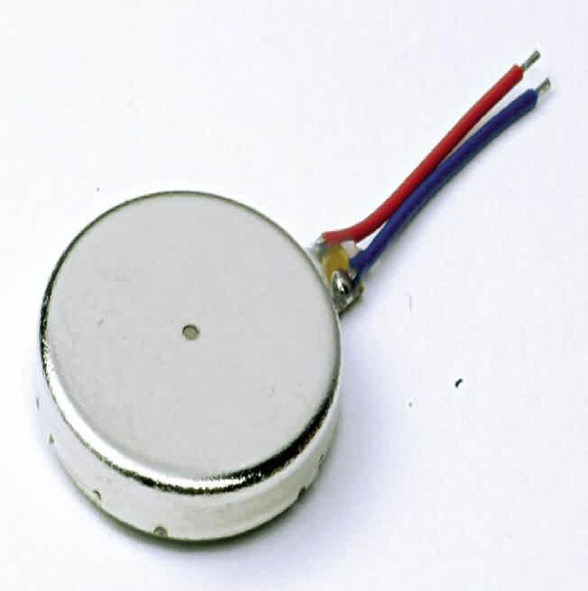 Shaftless Flat Vibration Motor - Dia.: 8/10/12mm