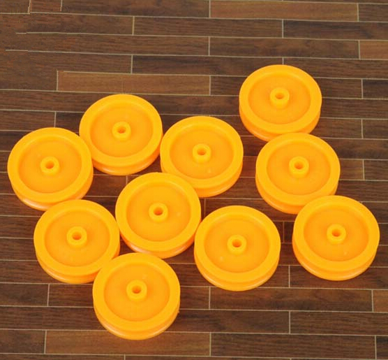 Plastic Single Flute Pulley Wheel OD: 16.5mm