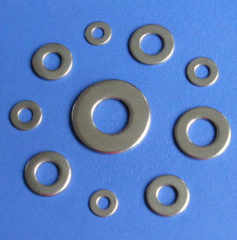 High Tensile Flat Metal Screw Washer M2 ~ M6 - Stainless Steel