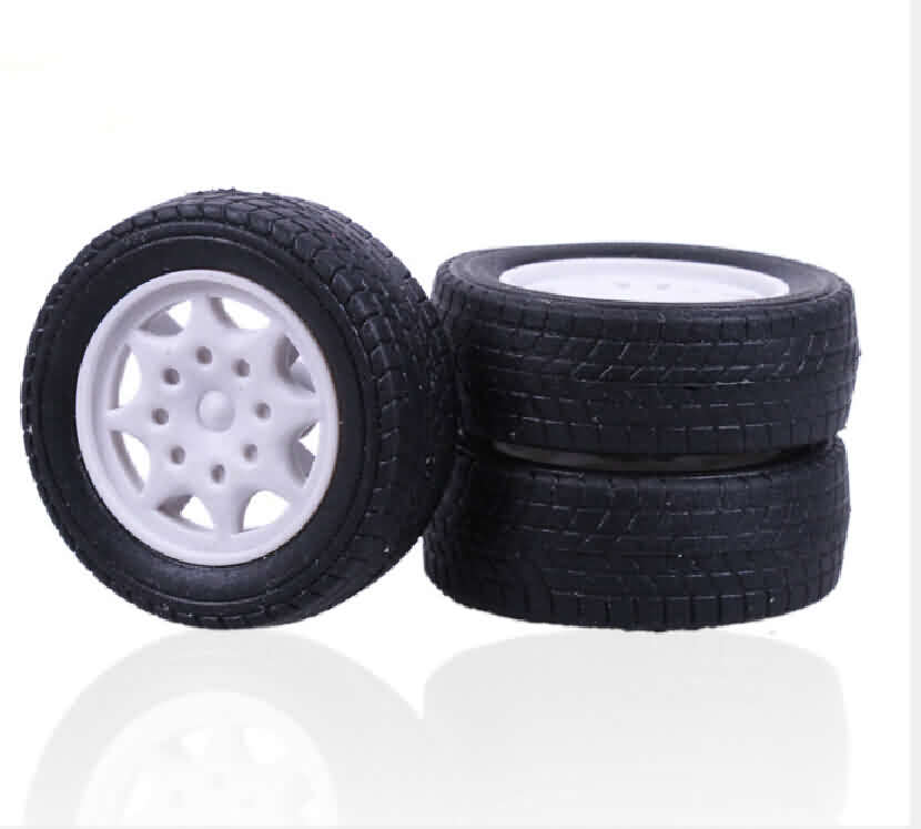 Rubber Tire with PP Hub Wheel / OD: 30mm