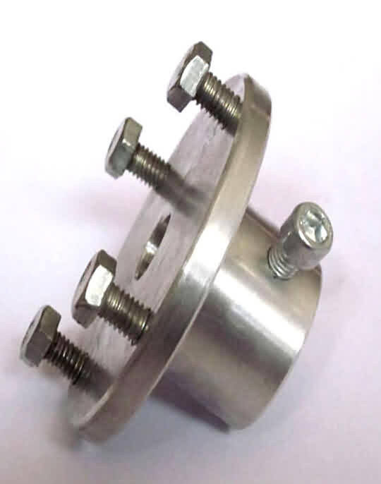 Aluminum Mounting Hubs for Shaft Dia: 12 / 16mm