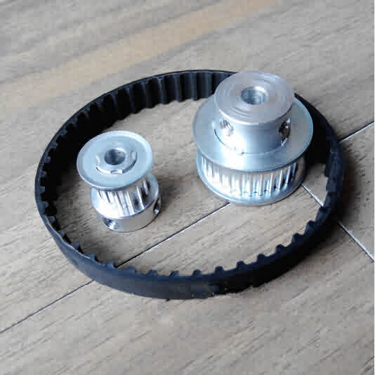 HTD 3M Aluminum Synchronous Pulley Set / Ratio- 1:3 / Teeth: 15-45