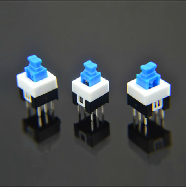 Micro Tact Switch with Self-lock Function - 6 Pin