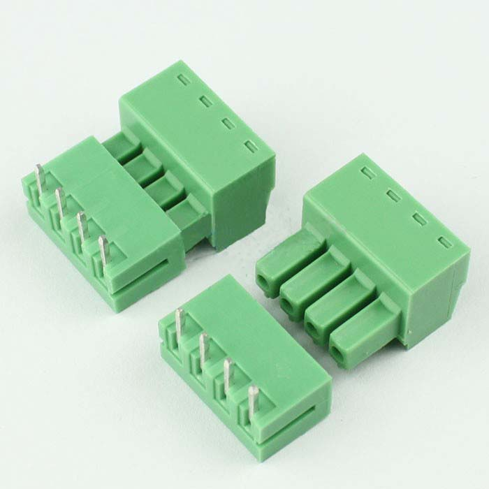 2EDG Screw Terminal Block Connectors in Pair - Pitch: 3.81mm - Right Angle Pin