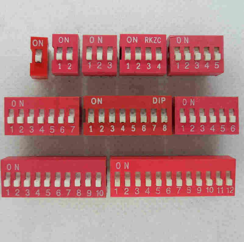 Through-hole DIP Switch Single Pole Single Throw - Slide Type/Pitch: 2.54mm