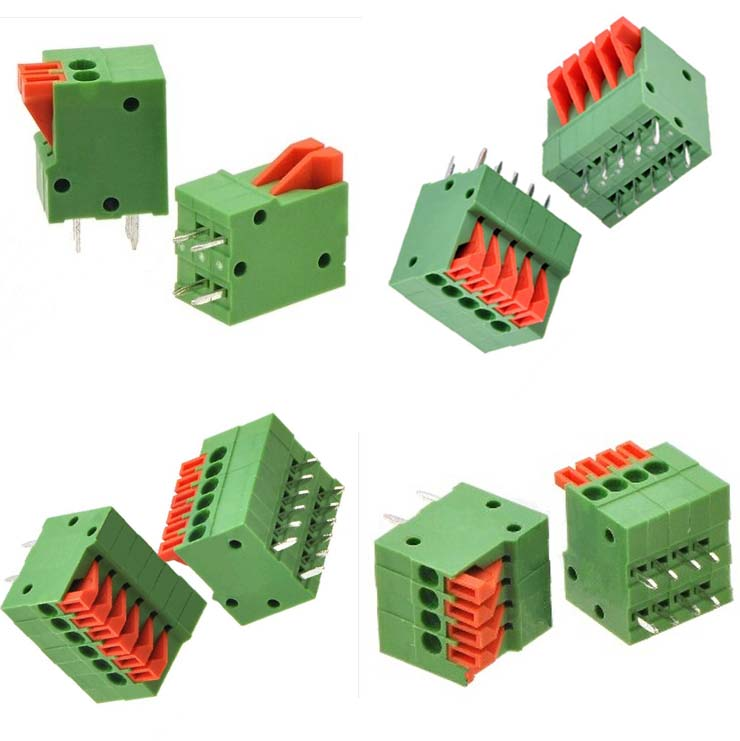 Screwless PCB Terminal Blocks with Straight Pins / Pitch: 2.54mm