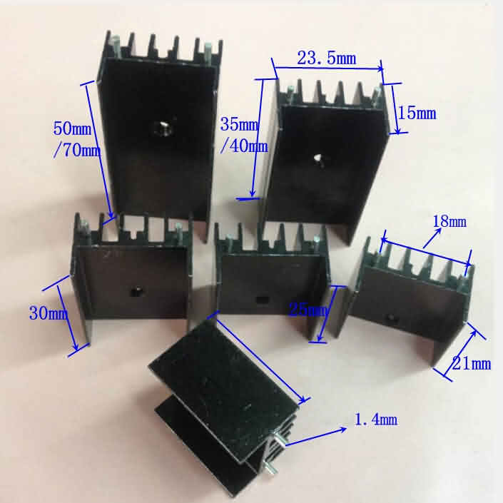 Popularly Used Small Heat Sink for TO-220 Package Semiconductors